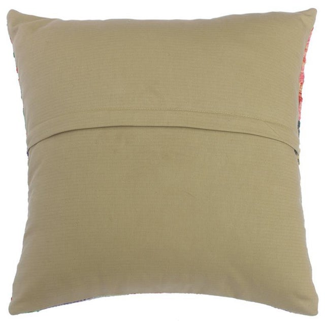 """2010s Clemente Gold/Lt. Blue Hand-Woven Kilim Throw Pillow(18""""x18"""") For Sale - Image 5 of 6"""