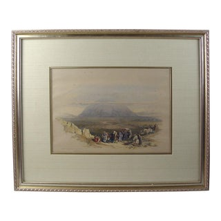 Mount Tabor, From the Plain of Esdraelon 1844 Lithograph For Sale