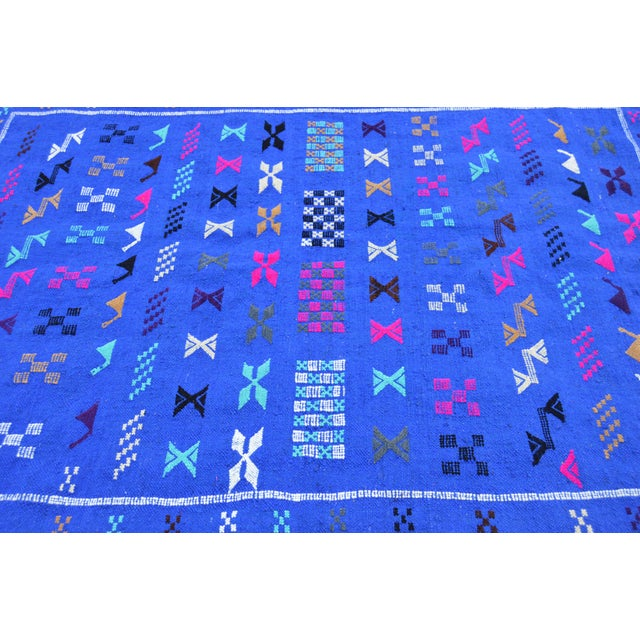 Tribal Moroccan Rug- 3'3'' X 4'10'' For Sale - Image 3 of 4
