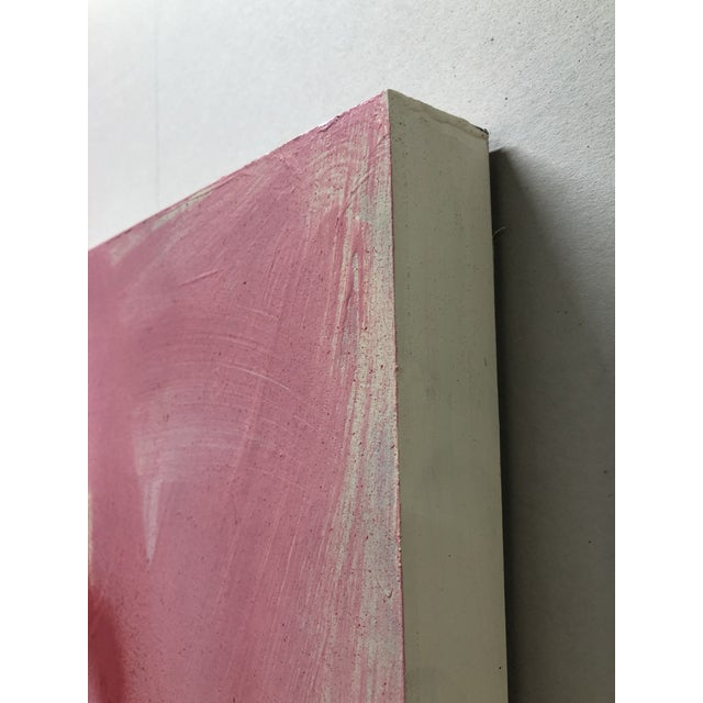 Large Abstract Pink Painting on Panel by Mirtha Moreno For Sale In West Palm - Image 6 of 11