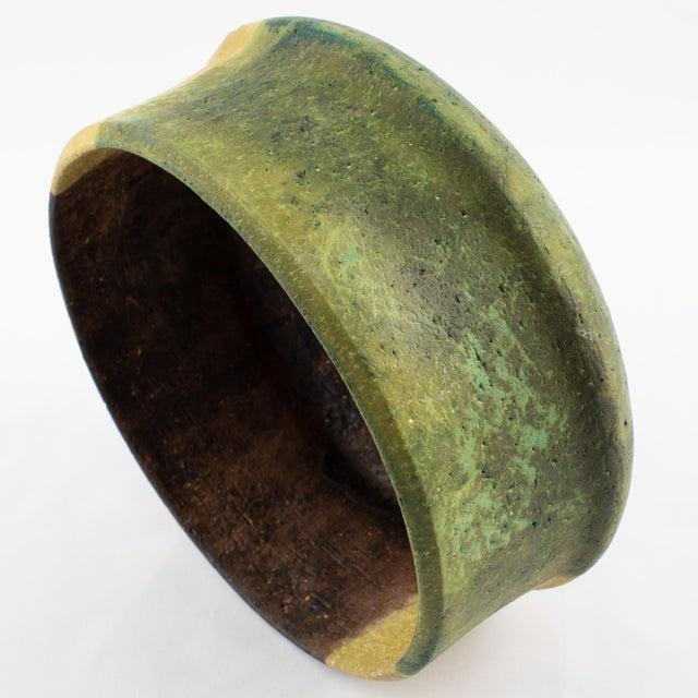 Marcello Fantoni Yellow, Green and Burgundy Ceramic Bowl, Circa 1970s For Sale - Image 11 of 13