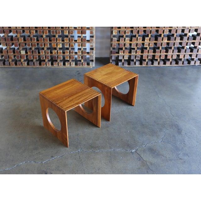 Richard Nissen 1960s Peter Hvidt for Richard Nissen Cube Nesting Tables - a Pair For Sale - Image 4 of 12