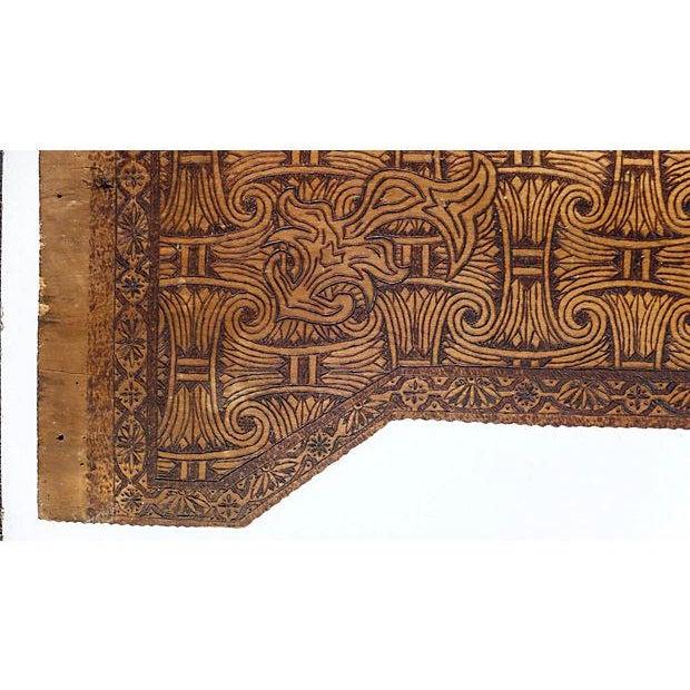 Art Nouveau Art Nouveau Carved Wood Frieze Wall Hanging For Sale - Image 3 of 7