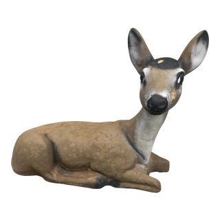 1950s Vintage Cast Concrete Deer Garden Statue For Sale