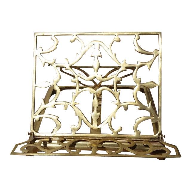 Vintage Brass Folding Book Holder For Sale