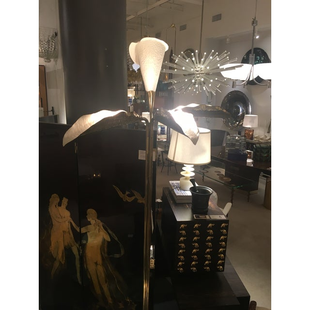 Art Nouveau Floor Lamp by Angelo Lelii Arredoluce For Sale - Image 3 of 6