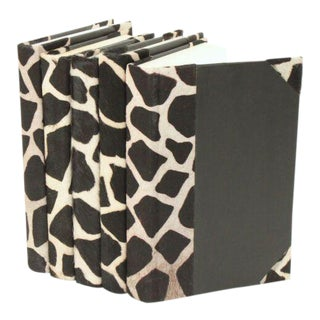 Hide Collection Giraffe Books - Set of 5 For Sale