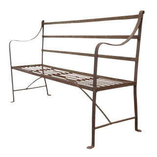 Regency Iron Garden Bench For Sale