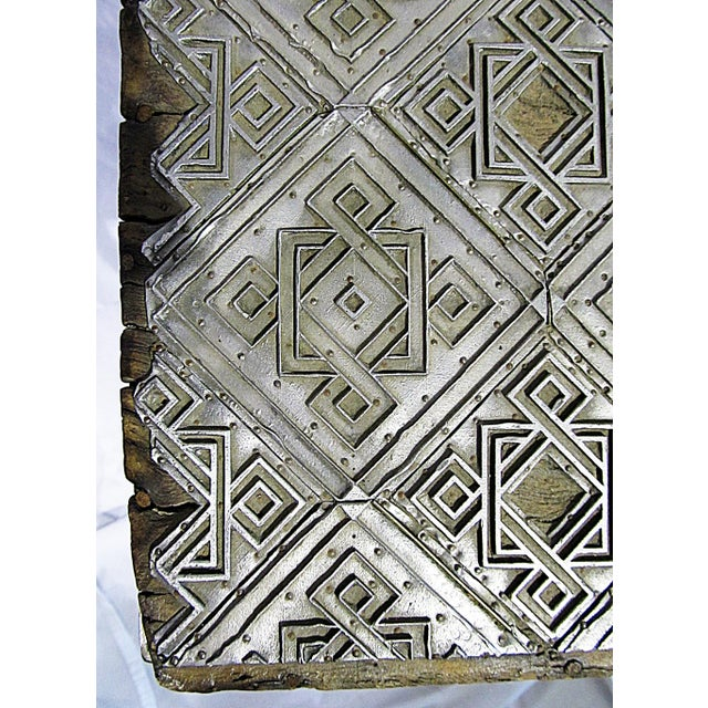 Antique Wallpaper-Print Steel End Table For Sale - Image 5 of 5