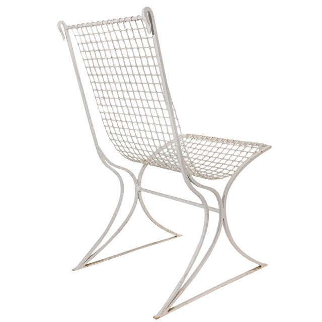 Salterini Mid-Century Modern White Metal Chairs - Set of 4 For Sale - Image 12 of 13