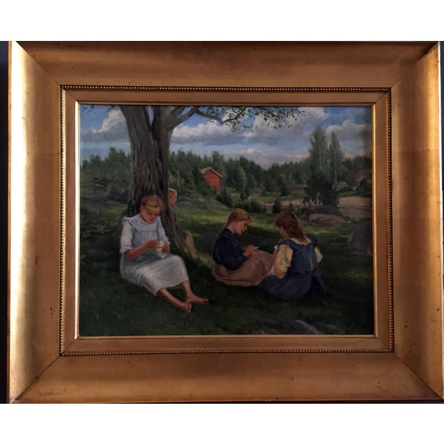 19th Century Swedish Painting by Bror Tycho Ödberg For Sale - Image 11 of 12
