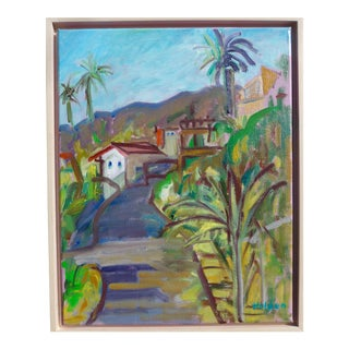 Contemporary Painting, California Hills Landscape For Sale