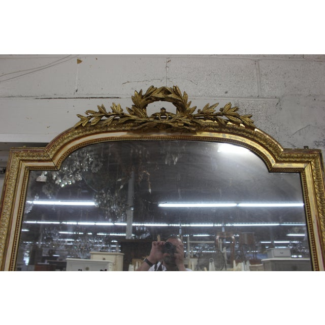 18th Century Louis XVI Giltwood Mirror For Sale - Image 4 of 9
