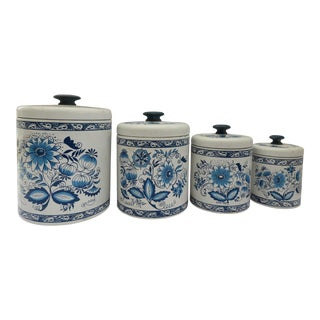 Vintage Farmhouse Kitchen Canisters - Set of 4 For Sale