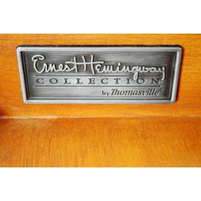 Brown Vintage Thomasville Ernest Hemingway Desk & Chair Set For Sale - Image 8 of 10