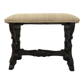Carved Black Forest Bench