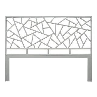 Tiffany Headboard King - Light Gray For Sale