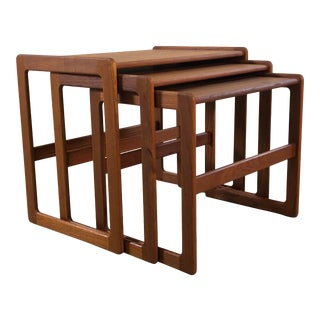 Vintage Danish Teak Nesting Tables, Set of 3 For Sale