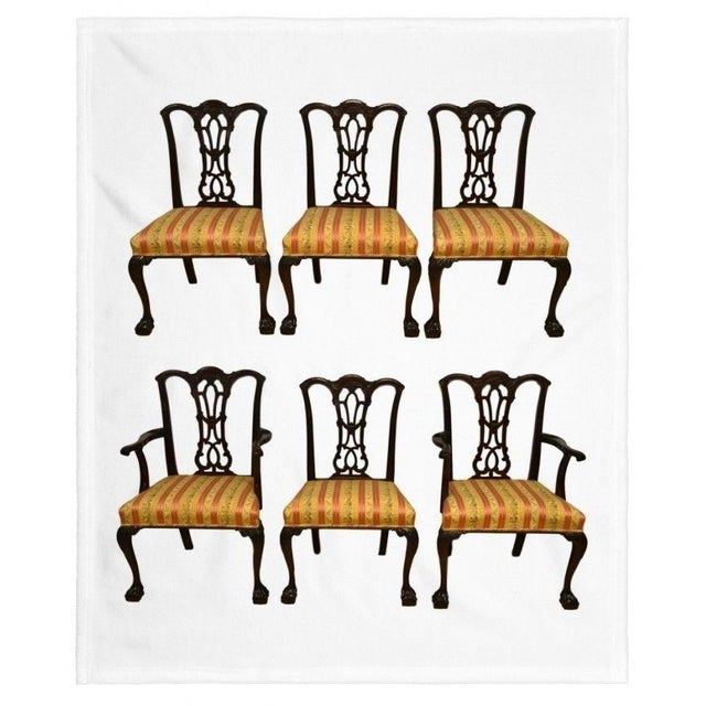 Solid Mahogany Chippendale Style Dining Chairs Ball & Claw Feet - Set of 6 For Sale - Image 10 of 11