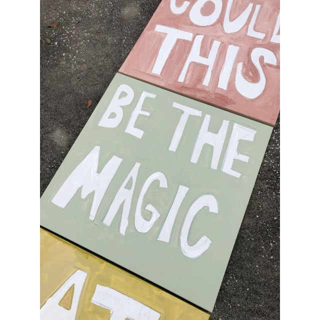 2010s Could This Be the Magic at Last Triptych by Virginia Chamlee For Sale - Image 5 of 8