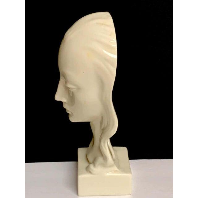Geza De Vegh for Lenox Art Deco Portrait Bust of a Woman Sculpture For Sale - Image 9 of 13