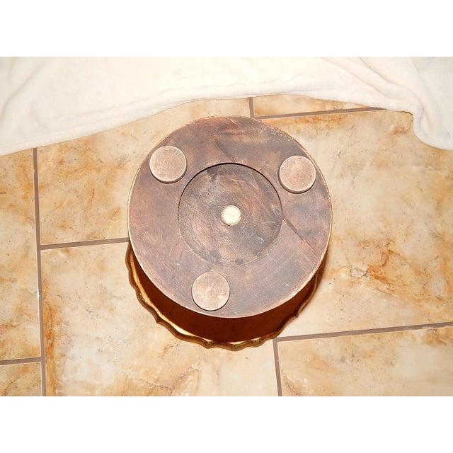 Italian Gold Gilt Wood Florentine Round Pedestal Side Table - Image 8 of 10