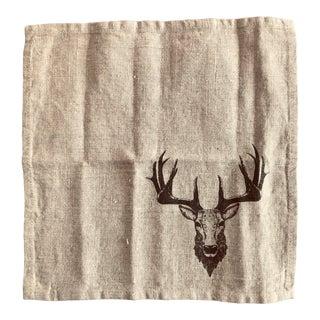 German- Deer Head Napkins - a Pair For Sale