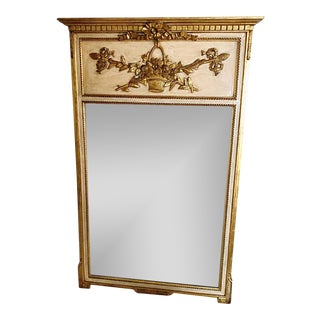 Vintage Regent Empire Trumeau Mirror For Sale