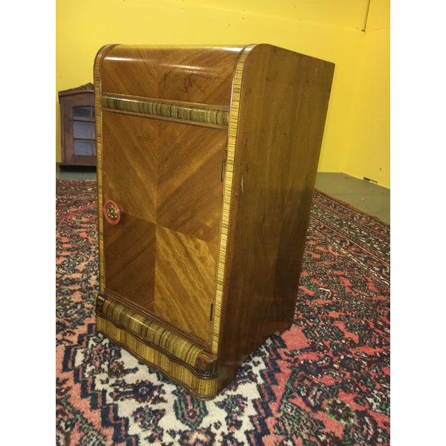 Antique Art Deco Waterfall Style Nightstand - Image 5 of 9