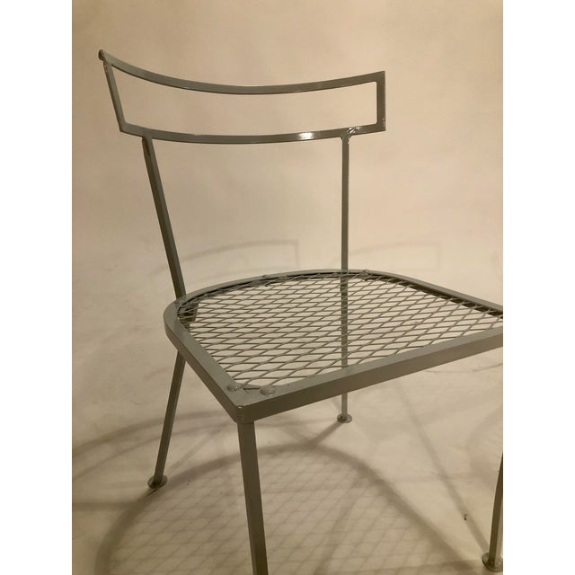 Light Gray Klismo Patio Dining Chairs - Set of 4 For Sale - Image 8 of 9