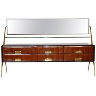 Italian Mirrored Cabinet by Silvio Cavatorta, 1950s For Sale
