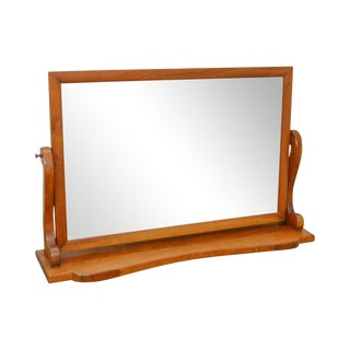 Stickley Solid Cherry Table Top Shaving Mirror