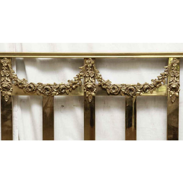 Shabby Chic Vintage Mid-Century Full Size Brass Bedframe For Sale - Image 3 of 10