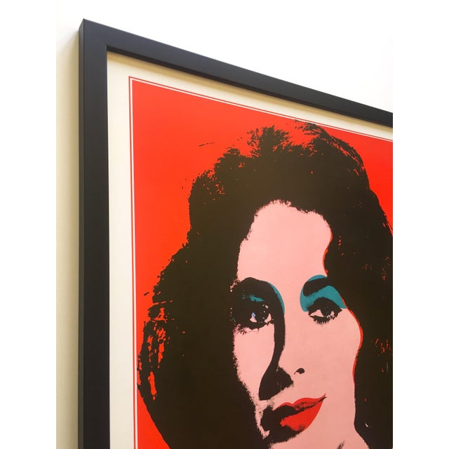 "Andy Warhol Rare Vintage 1989 Iconic Lithograph Print Framed Italian Exhibition Large Pop Art Poster "" Liz "" 1964 For Sale In Kansas City - Image 6 of 13"