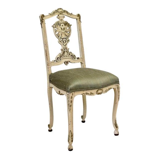 Italian Parcel Gilt Vanity Chair For Sale