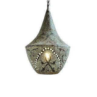 Copper Verdigris Dot Puncture Lantern Small For Sale