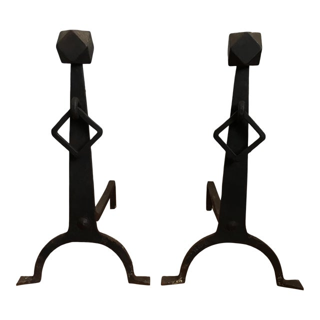 Andirons - Arts & Crafts Andirons - a Pair - Image 1 of 11