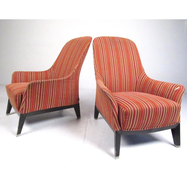 Pair Massimo Scolari Lounge Chairs by Giorgetti For Sale - Image 13 of 13