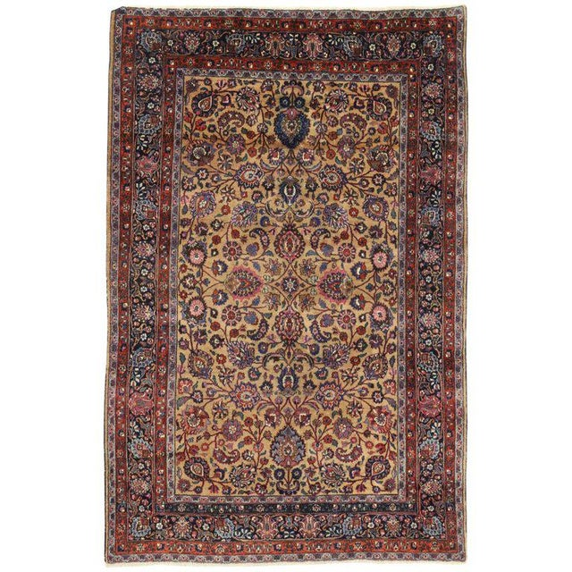 Early 20th Century Persian Mashhad Rug With Traditional Style - 6′9″ × 10′4″ For Sale - Image 5 of 5