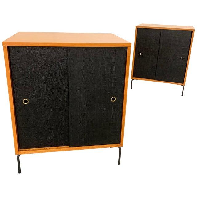 Paul McCobb Planner Group Maple Sliding Door Cabinets For Sale