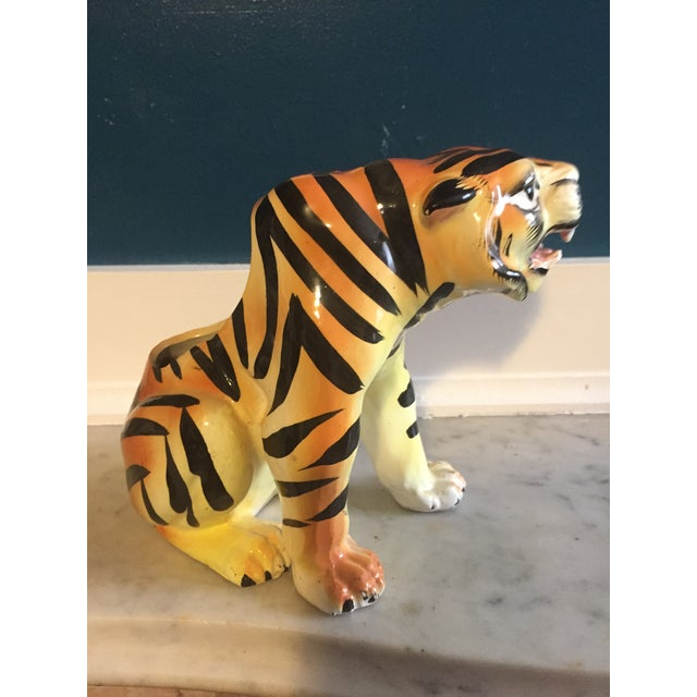 Mid-Century Crouching Tiger Cache Pot - Image 5 of 7