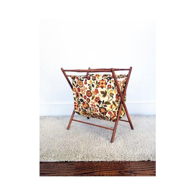 Vintage Folding Sewing Basket / Hamper - Image 2 of 7
