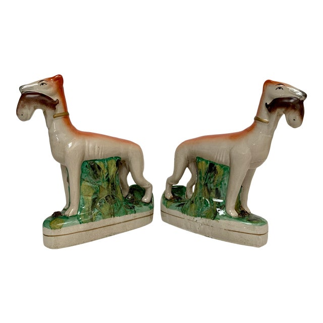 Staffordshire Ceramic Dogs – a Pair For Sale
