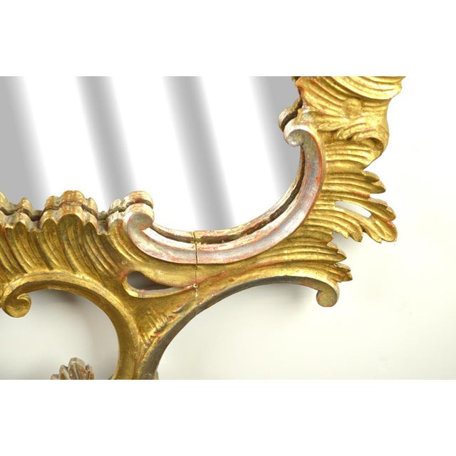 Carved Rococo Vintage Mirror - Gold & Silver Gilt - Image 6 of 7