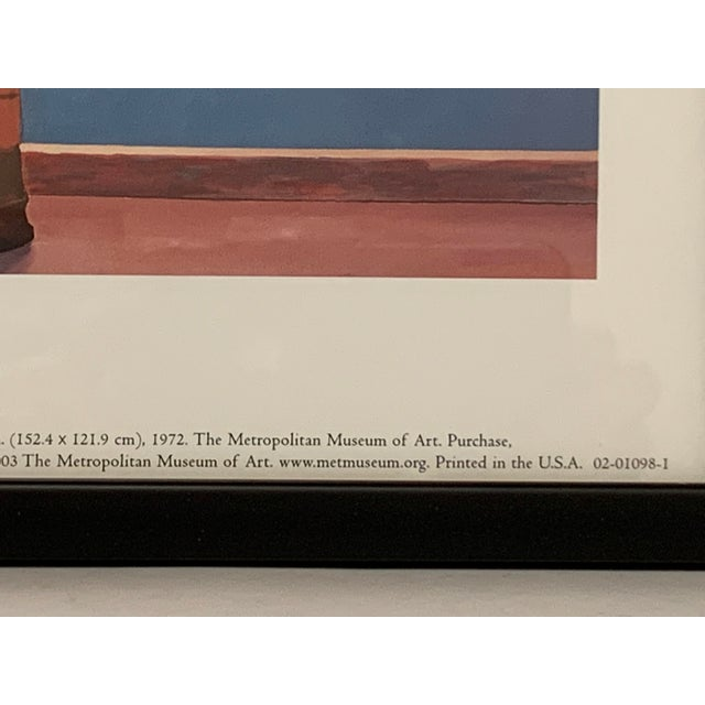 """Blue Pop Art Framed Museum Lithograph """"Mount Fuji and Flowers"""" by David Hockney For Sale - Image 8 of 11"""