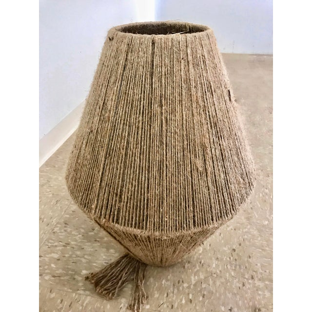 Jute Cord Wrapped Pendant For Sale In Los Angeles - Image 6 of 9