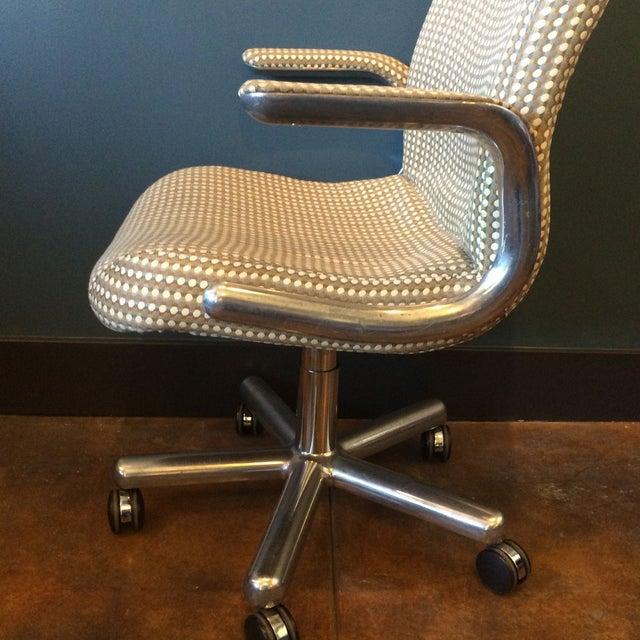 Mid-Century Aluminum Swivel Office Chair - Image 3 of 9