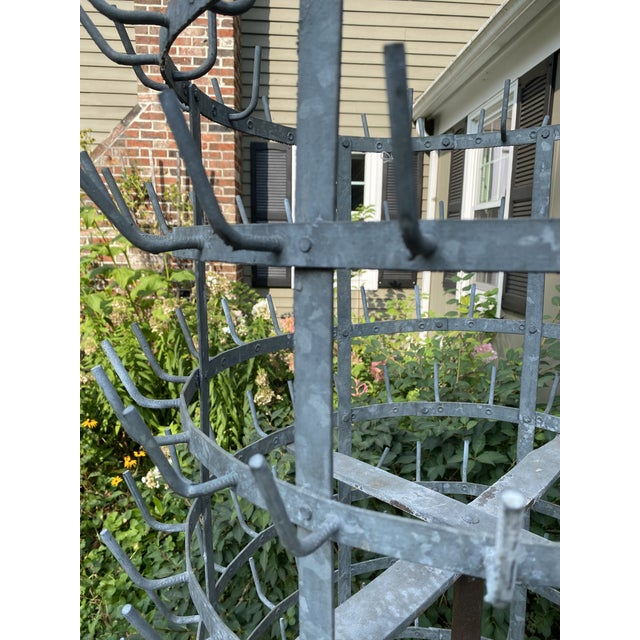 French Country Monolithic Antique French Zinc Herisson For Sale - Image 3 of 7