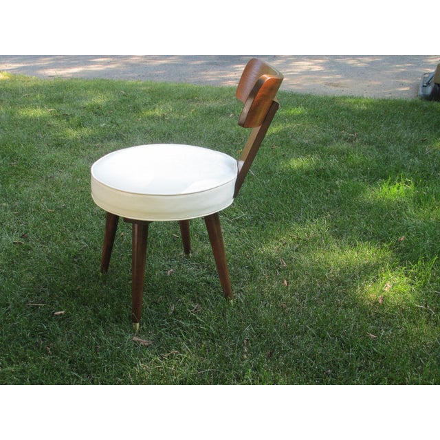 Mid-Century Swivel Vanity Chair - Image 7 of 7