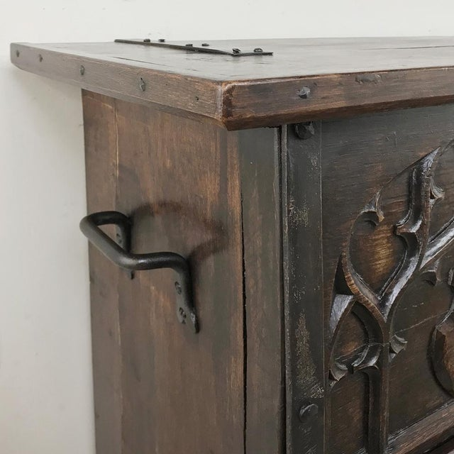 Metal Antique French Gothic Low Buffet - Console - Sofa Table For Sale - Image 7 of 13